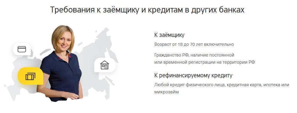 Требования к заемщику по рефинансированию в Тинькофф